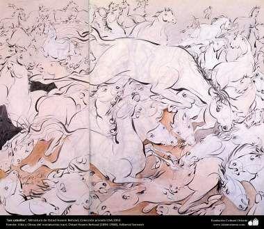 Los caballos Miniatura de Ostad Hosein Behzad Colección privada USA1953 -200