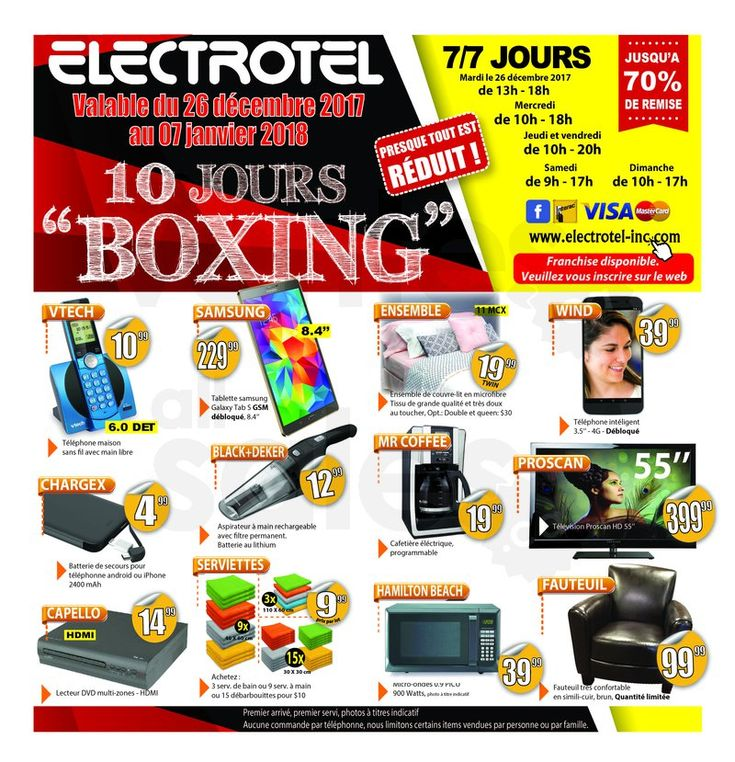 Électrotel : 10 jours de Boxing Day | lesventes.ca