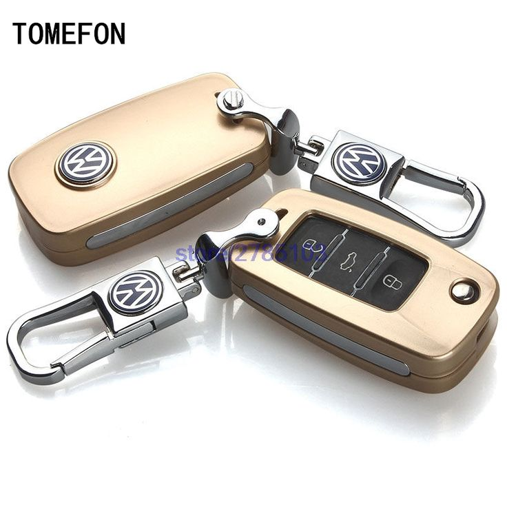TOMEFON New Key Case Cover Car chain Case Keychain Remote For VW volkswagen Sagitar Passat Bora Lavida Jetta Santana Polo Tiguan