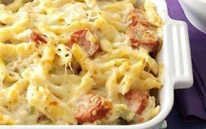 Get full Polish Casserole Recipe ingredients, how-to directions, calories and nutrition review. Rate this Polish Casserole recipe with 4 cups uncooked penne pasta, 1-1/2 lb smoked polish sausage or johnsonville polish kielbasa sausage, cut into 1/2-inch slices, 2 cans (10-3/4 oz each) condensed cream of mushroom soup, undiluted, 1 jar (16 oz) sauerkraut, rinsed and well drained, 3 cups (12 oz) shredded swiss cheese, divided, 1-1/3 cups 2% milk, 4 green onions, chopped, 2 t...