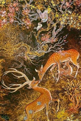 Mahmoud Farshchian Online Gallery 1, Persian Miniature Paintings - Ahreeman X
