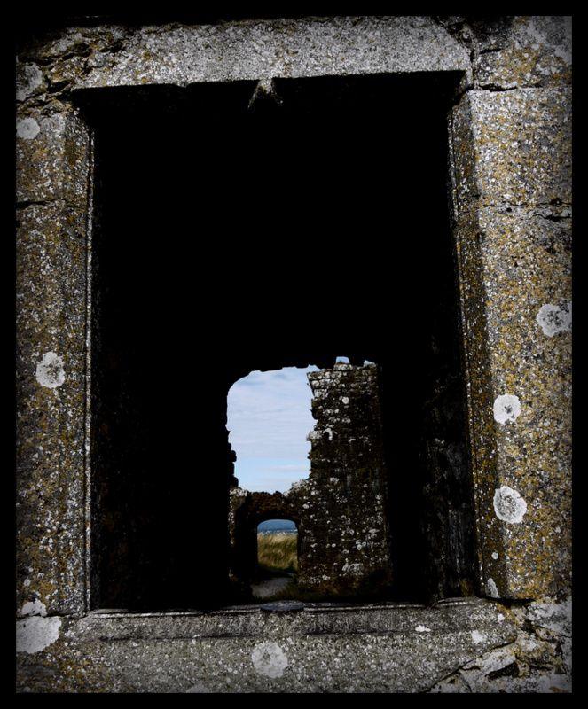 Portal through the Rock of Dunamaise Castle, Co. Laois, Ireland