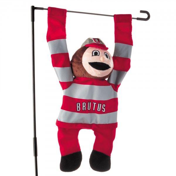 Ohio State garden flag | ... NCAA > Ohio State Buckeyes > Ohio State Buckeyes 3D Mascot Garden Flag