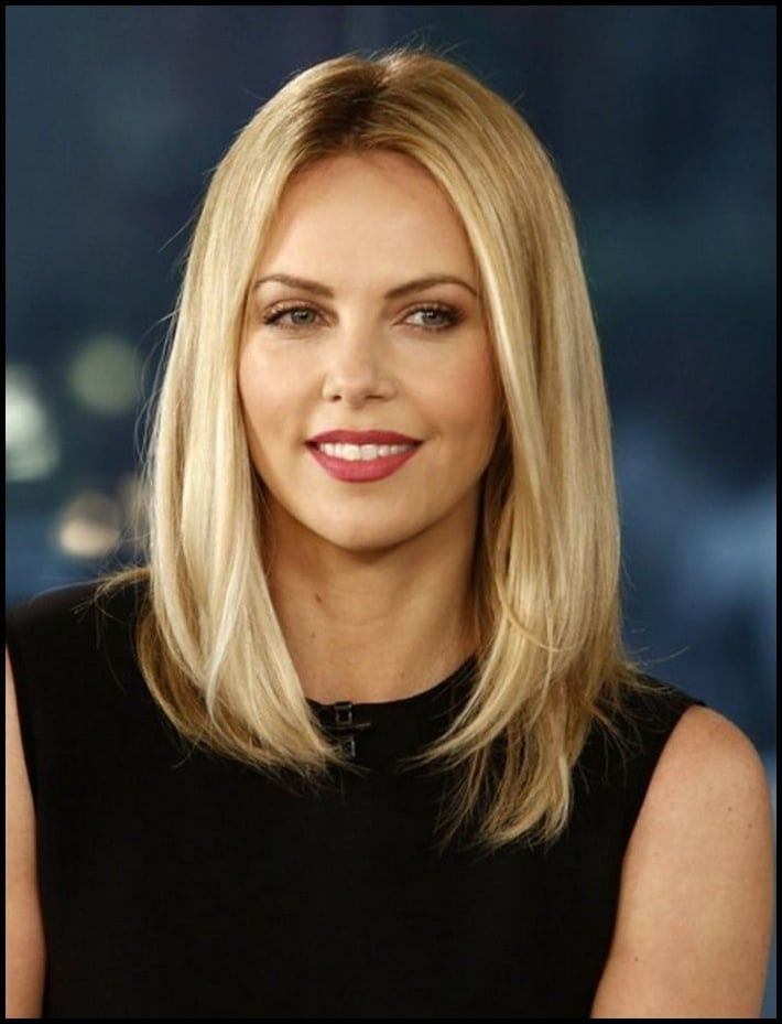 Damen Frisuren Ab 30 Long Bob Charlize Theron Blond Neueste Long Bob Hairstyles Thick Hair Styles Medium Hair Styles