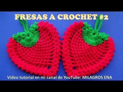 FRESA STRAWBERRY tejida a crochet para agarradera de ollas o adorno de cocina paso a paso - YouTube