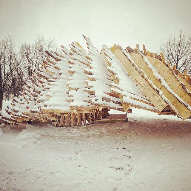 #LetItSnow #WarmingHut #Rojkind #Winnipeg
