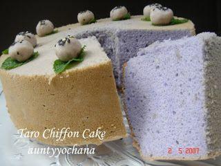 Yochana's Cake Delight! : Taro Chiffon Cake