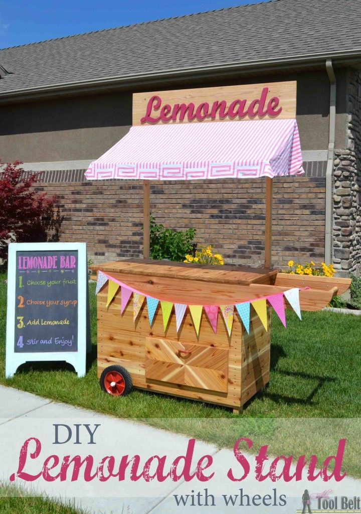 67 best stand decorating ideas images on pinterest for How to build a lemonade stand on wheels