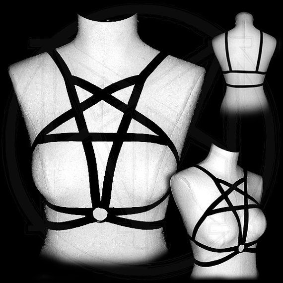 PENTAGRAM chest body harness cage bra by modministrymerch on Etsy