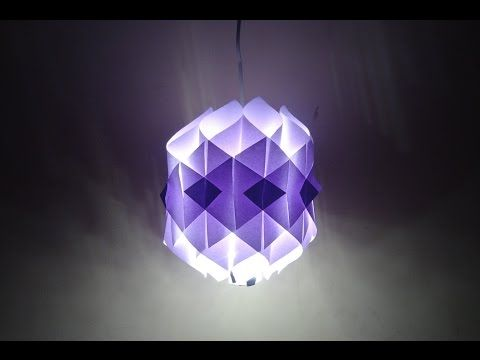 Paper Crafts (Diwali Decoration Ideas): Simple Paper Lantern - YouTube