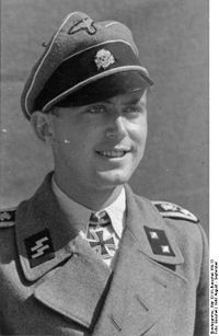 This is a picture of Karl Silberbauer. He was the officer that found and captured Anne Frank and her friends in the Secret Annex. He was a member of the SS.
