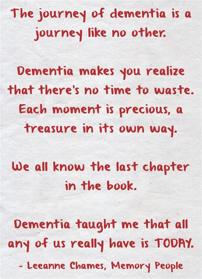 The journey of dementia is a journey like no other.