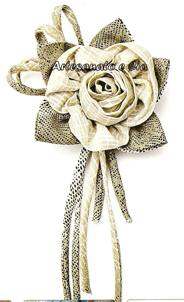 Artesanato e Cia: Rosa em tecido -como fazer