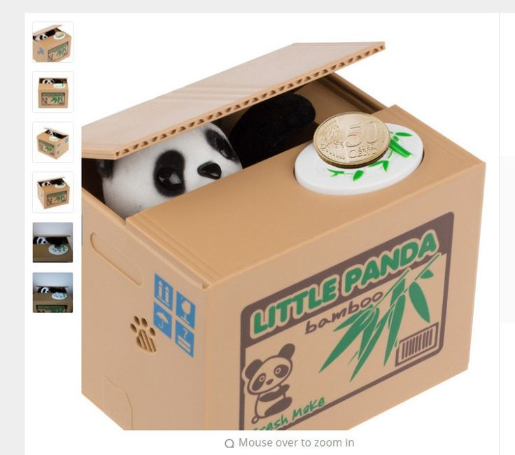 Ola Panda Thief Money boxes toy piggy banks gift kids money boxes Automatic Stole Coin Piggy Bank Money Saving Box Moneybox www.peoplebazar.net    #peoplebazar