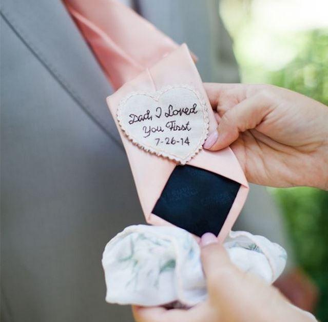 stropdas vader van de bruid