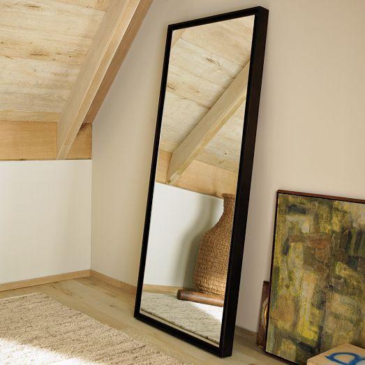 floating wood floor mirror west elm inspiration for our casa pi. Black Bedroom Furniture Sets. Home Design Ideas