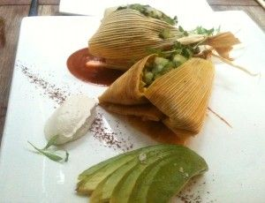 Sweet corn and cashew tamales from Pure Food and Wine