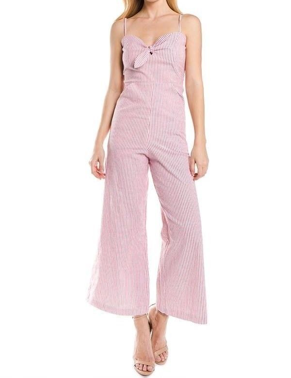 8835ad3161b6 Womens Jumpsuit Sexy Striped Bow Tie Front Cut Out Wide Leg Long Pants  Romper  fashion  clothing  shoes  accessories  womensclothing   jumpsuitsrompers (ebay ...