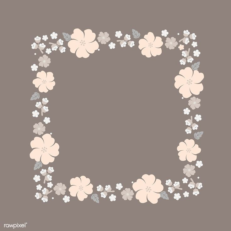 Square beige floral border vector | free image by rawpixel ...