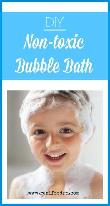 Easy Non-toxic Bubble Bath Recipe. Don't let your kids bathe in a chemical soup, just so they can have fun with bubbles. Make your own! Feel good about letting them play in the tub! realfoodrn.com