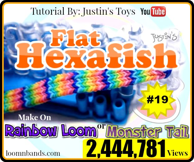 Monster Tail Loom #19 Flat Hexafish By Justin's Toys ...