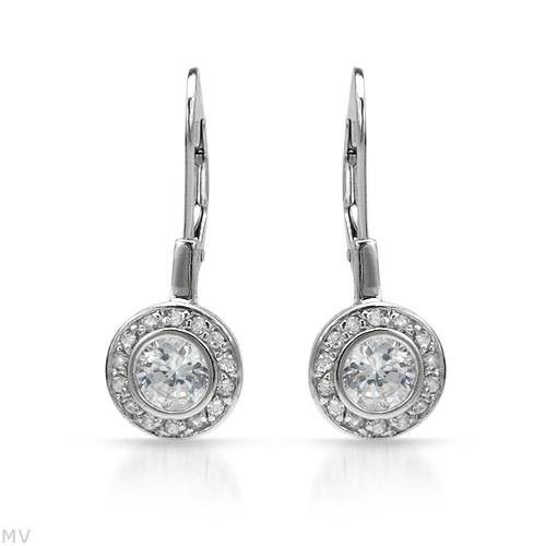 925 STERLING SILVER EARRINGS WITH SWAROVSKI CRYSTALS