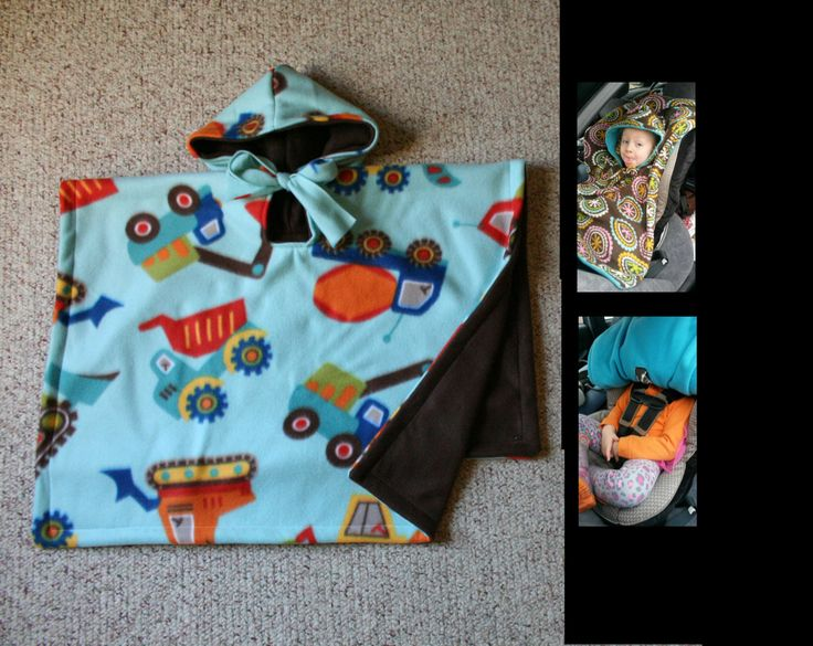 Car Seat Poncho carseat coat hoodie Toddlers blanket trucks cars MTO by boobercakes on Etsy