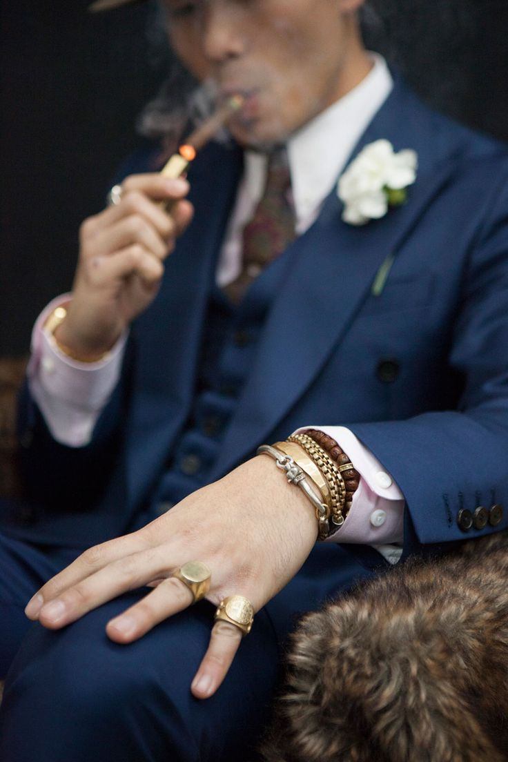 """Luxury: As he sits here with the best CAO cigars from Italia.  He's listening to James Brown """"This is a mans world."""""""
