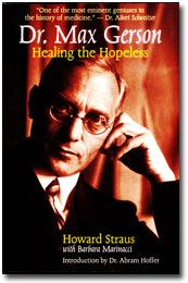 Dr. Max Gerson: Healing the Hopeless - He had to run to Mexico to continue to cure cancer in order to avoid being jailed in the US for curing cancer through diet and educating.  Then he lost his life to arsenic.  We all lost a hero.