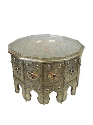 75% OFF Badia Design Moroccan Lighting Table, Silver
