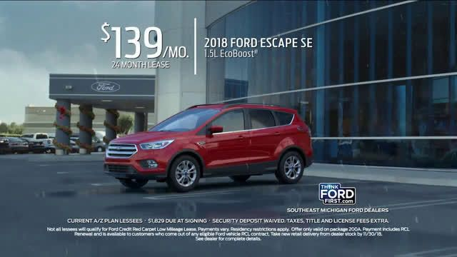 Ford 2018 Escape Current A Z Plan Lessees Ad Commercial On Tv