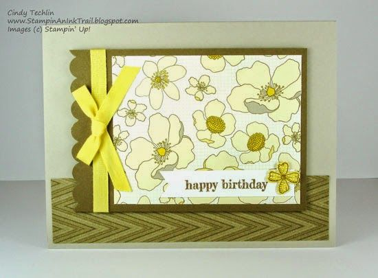 Birthday, One Sheet Wonder, Park Lane DSP, Something to Say, Stampin' Up, Tent Card, Stampin' Up!