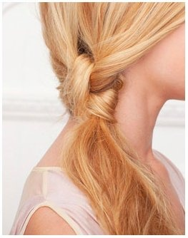 Knotted #ponytail. #hair