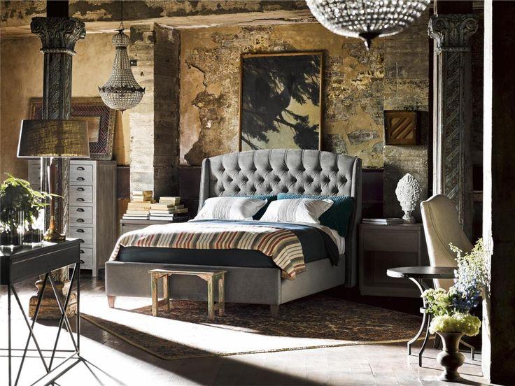 Universal Furniture Curated Halston 4 Piece Bedroom Set In Grey Cloud Velvet