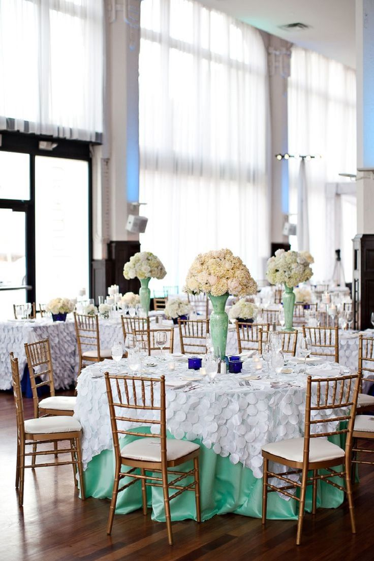 mint green & white wedding  ~  we ❤ this! moncheribridals.com #weddingtablescape