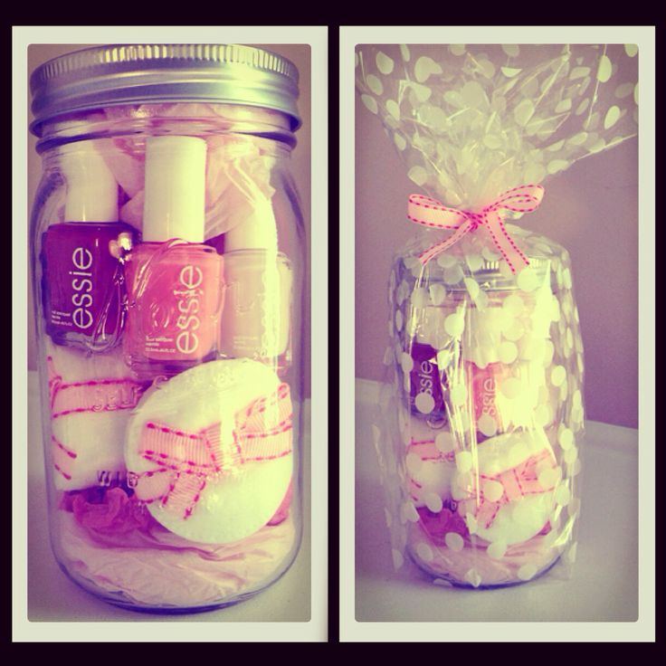 DIY Birthday Gift: Manicure in a Jar. Essie ombré inspired...