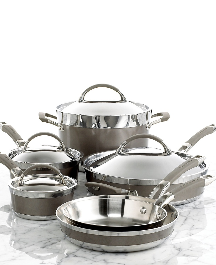 Kitchenaid Pot And Pan Set exellent kitchenaid pot and pan set polished cookware a throughout