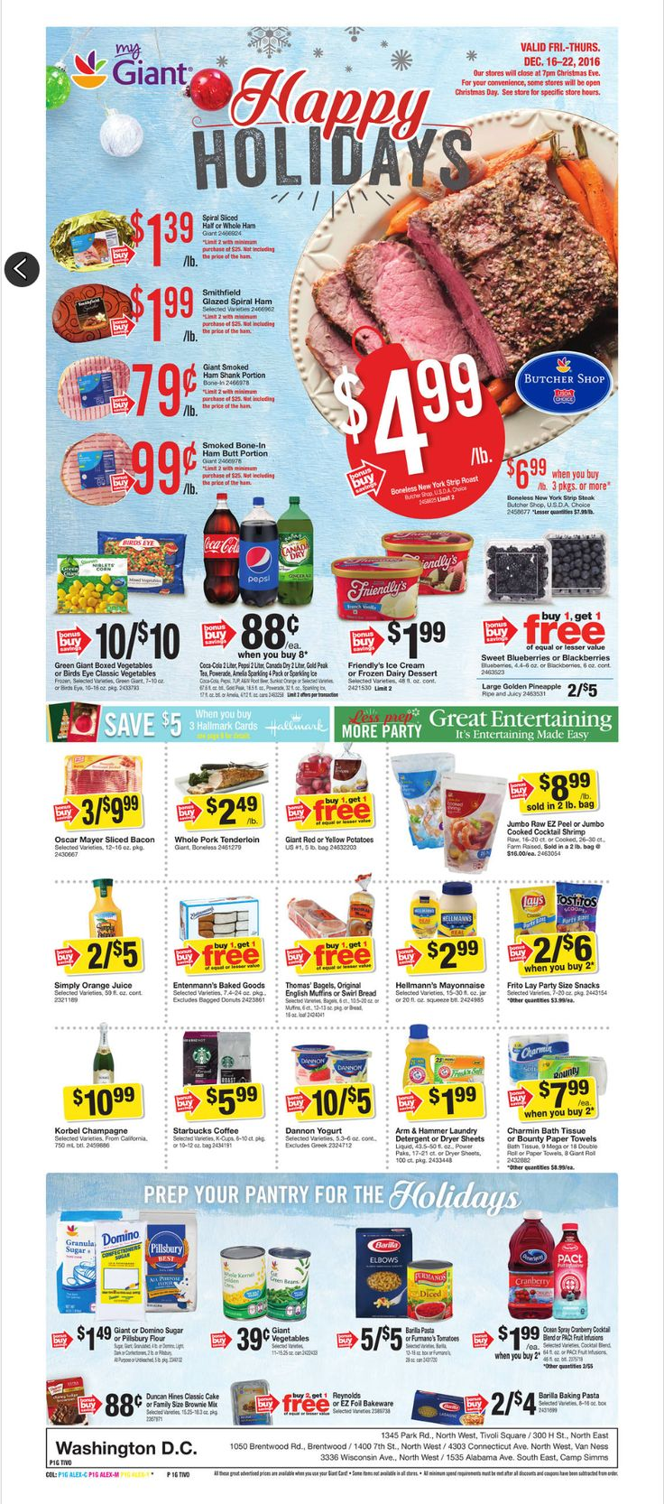 Giant Food Weekly Ad December 16 - 22, 2016 - http://www.olcatalog.com/grocery/giant-food-weekly-ad.html