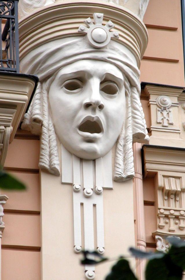 Riga Jugendstil-Ornament Art Nouveau - Mascaron — Wikipédia