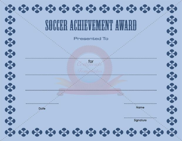 7 best sports certificate templates images on pinterest soccer achievement award award templatecertificate yelopaper Images