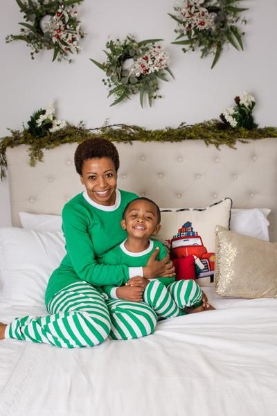 ea947abcd8 Merry Green Stripe Kids  Pajama Set - Green Top  Matching Family ...