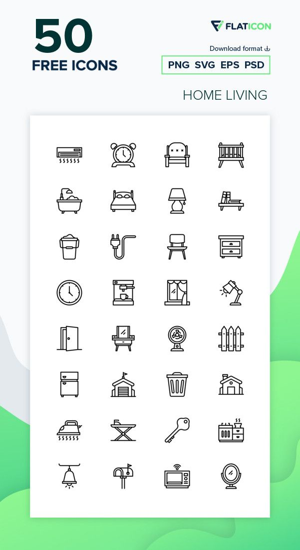 50 Free Vector Icons Of Home Living Designed By Good Ware Free Icons Png Vector Free Free Icon Packs
