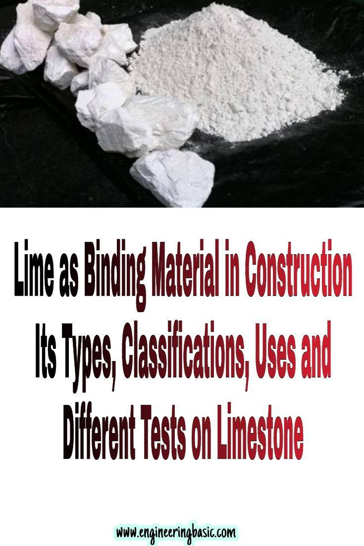 Lime is an important binding material used in building