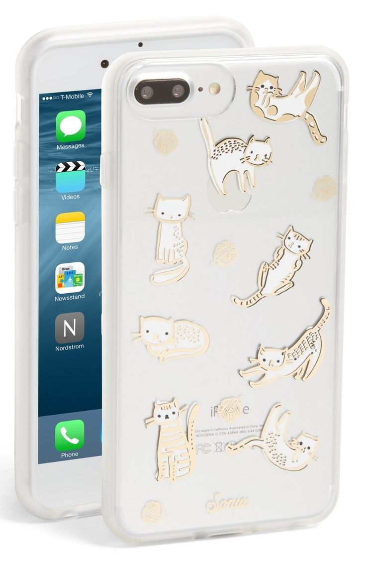This transparent iPhone case with gold cats is too cute not to own.