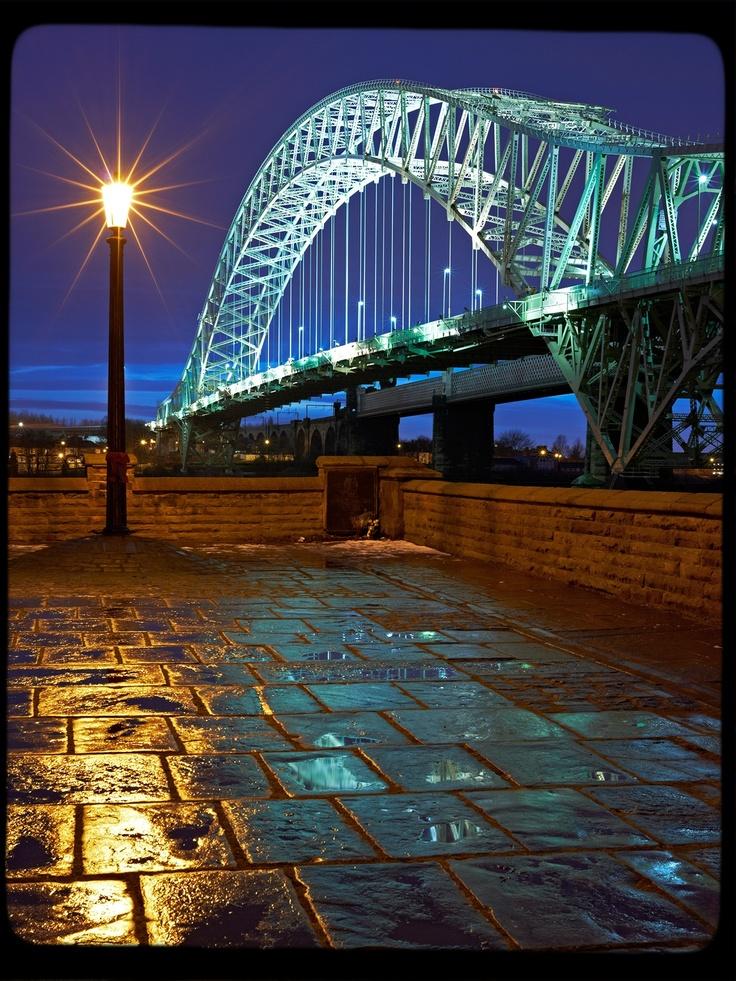 The Silver Jubilee Bridge ('Runcorn Bridge') that crosses the Mersey estuary between Runcorn and Widnes