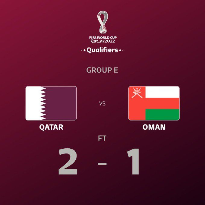 Wcq Full Time Qatar 2 1 Oman 2019 Asian Cup Star Almoez Ali Scores Winner In Al Wakrah Scores And More From 2022 Asian Tv Channels Gadget World Persian