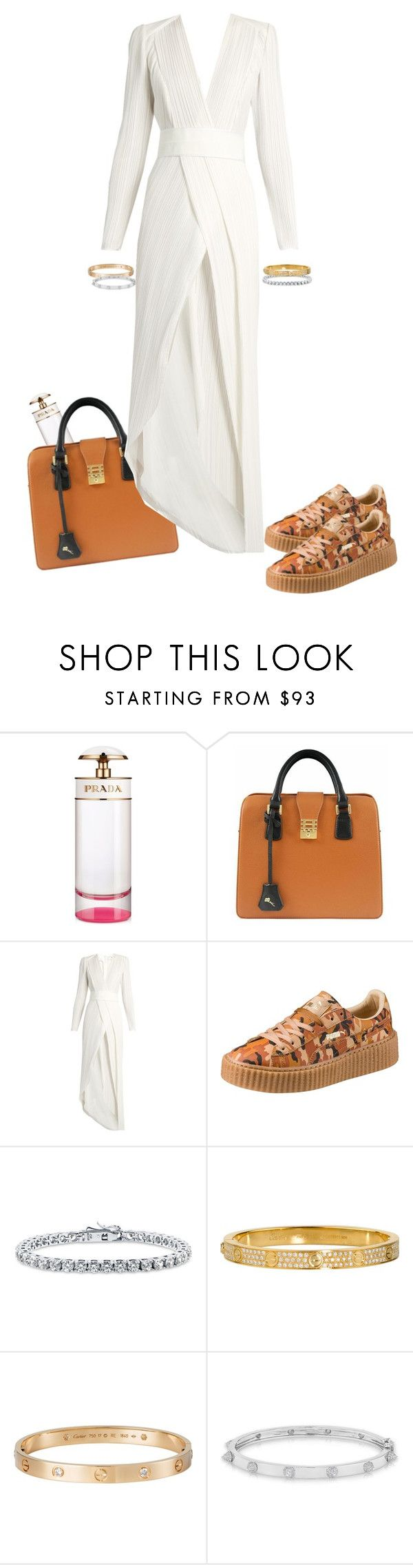 """Drake - pound cake"" by minniemauus ❤ liked on Polyvore featuring Prada, Florian London, Galvan, Puma, BERRICLE, Cartier and Anne Sisteron"