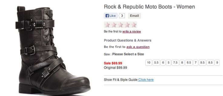 Rock & Republic Moto Boots