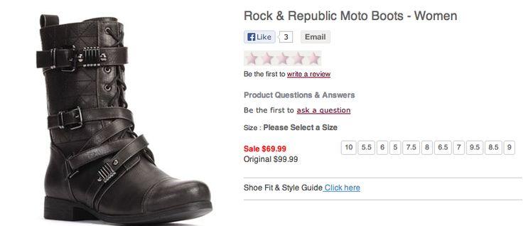 Rock & Republic Moto Boots