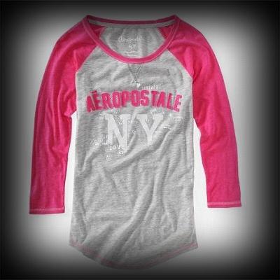 Aeropostale レディース Tシャツ エアロポステール Aero NY Baseball Crew Tee Tシャツ-アバクロ 通販 ショップ-【I.T.SHOP】 #ITShop